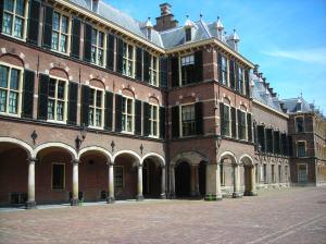 Het Binnenhof, nu huist hier de Eerste kamer